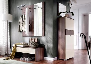 """Garderobenkombination von Wittenbreder – Modell Multi Color """"Una"""" Nr. 17 – in Nussbaum/Magnolia HG"""
