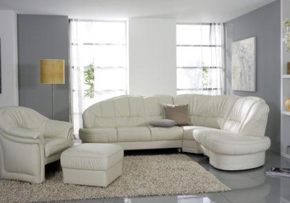 Sofa von Himolla – Modell 1813 – in Leder weiß