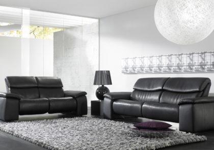 Sofa von Himolla – Modell 4032 – in Leder schwarz