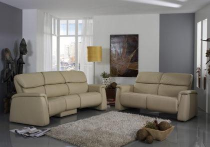 Sofa von Himolla – Modell 4203 – in Leder beige