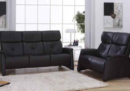 Sofa von Himolla – Modell 4878 – in Leder anthrazit