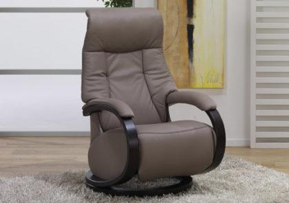 Cumuly-Sessel von Himolla-Modell 7111- in Leder erde