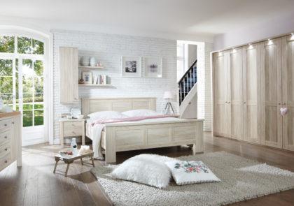 Schlafzimmer von Wiemann-Bergamo LS 1190-Eiche sägerau