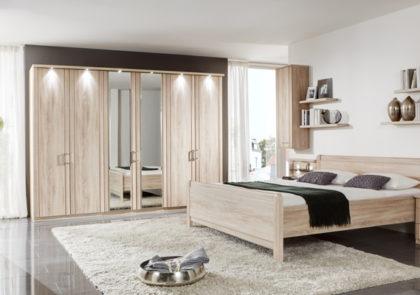 Schlafzimmer von Wiemann-Valencia LS 1390- Eiche sägerau Nachbildung
