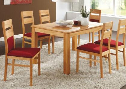 Tisch und Stühle von Klose – Modell T13/S12 – in Kernbuche