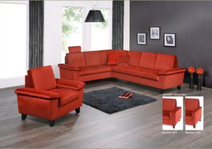 Sofa von Gehlen – Modell Novara – in rot
