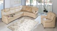 Sofa von Oelsa – Modell Gera – in Leder beige