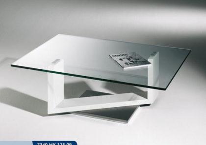Couchtisch von Hasse- Modell 7340 HK-115-09 – in Klarglas