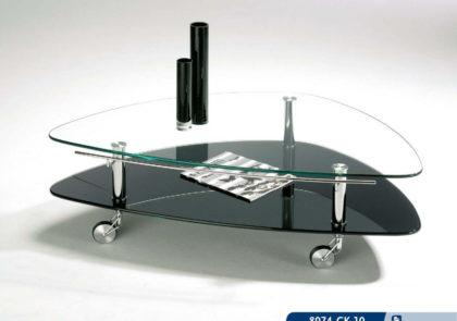 Couchtisch von Hasse – Modell 8074 CK-10 – in Klarglas