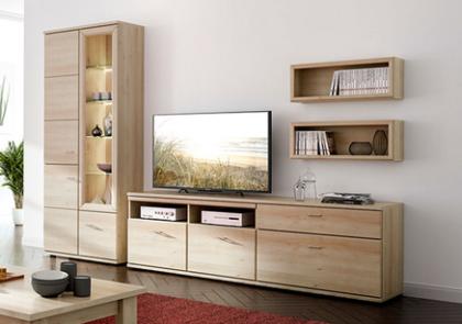 Wohnraummöbel von Stralsunder – Modell Just – in Naturbuche