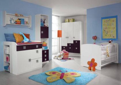 Schlafzimmer für Kinder von Rauch-Modell Skate-alpinweiß/Abs. brombeer