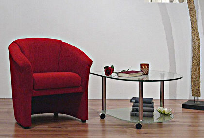 Sessel von Nehl – Modell Brüssel – in Rot