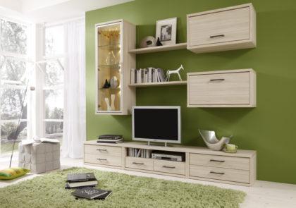 Wohnraumprogarmm von Priess – Modell Riva – in Akazie-Nachbildung