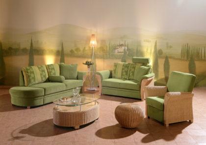 Sofa von PM Oelsa – Rabenau – Modell Chiasso – in grün
