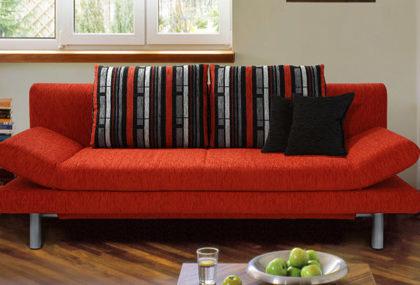 Schlafsofa von Nehl – Modell Coco – in Rot