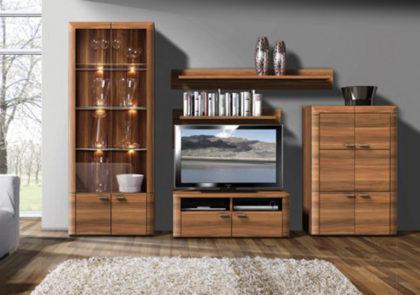 Wohnwand von RMI Modell Toscana in Kernnussbaum Holzdekor