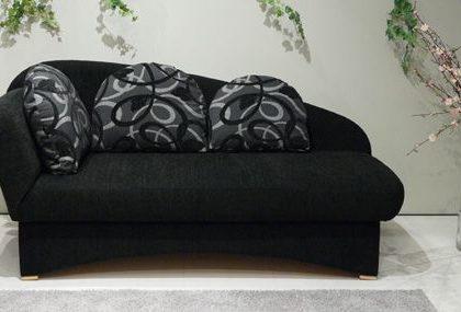 Schlafsofa von Nehl – Modell Pam – in Schwarz/Grau