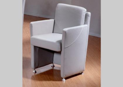 Sessel  von Oelsa – Modell Andante – in Leder grau