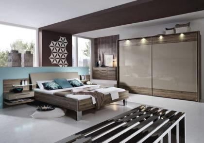 Schlafzimmer von Steffen – Modell Anja Plus – in Eiche Sanremo dunkel