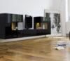 Wohnwand von Sudbrock Modell Domino 643 in Glattack quarz