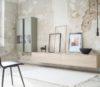 Wohnwand von Sudbrock Modell Goya 05 in Glattlack muschelgrau mit Eichefurnier