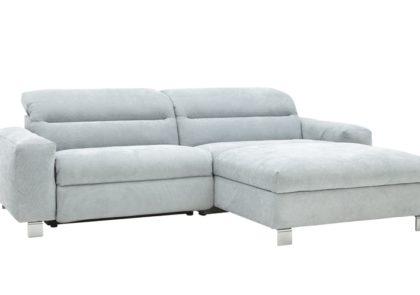 Sofa von Global – Modell Samora – in Stoff hellblau