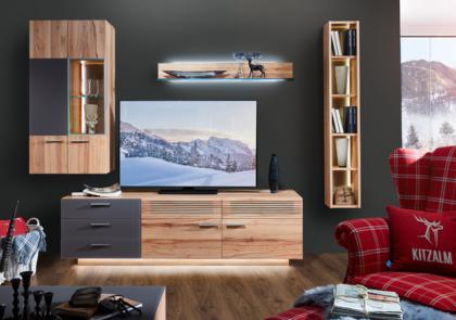 Wohnwand von Schröder – Modell Kitzalm Montana – in Kernastbuche natur