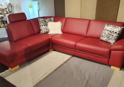 Polsterecke von Global – Modell Tavira – in Leder Rot
