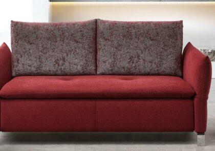 Doppelliege Schlafsofa von Bali- Modell Amelie – in rot