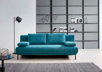 Schlafsofa von Bali – Modell Carina – in blau/türkis
