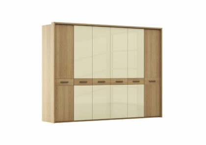 Drehtürenschrank Lenoso – BTH ca. 306x65x220 cm, Eiche massiv, Holzfarben