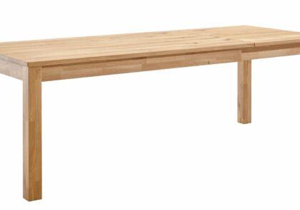 Esstisch Dinner – LB ca. 160×90 cm, Tisch verlängerbar (Klappeinlage einseitig)