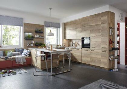 Moderne Global Küche 52.190 für die ganze Familie in Alteiche Nachbildung