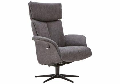 Relaxsessel Lugo – Größe S, Rückenlehne verstellbar (manuell), Stoff, Grau