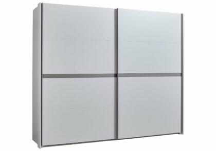 Schwebetürenschrank Viana – BH ca. 278x234x68 cm, Weiß