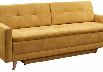 Sofa EM Tessin Stoff gelb mit Schlaffunktion