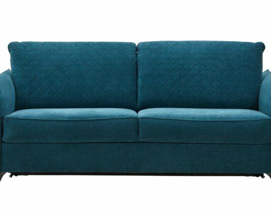 Sofa Melida 2 Sitzer Schlaffunktion manuell Stoff Smaragd Möbelhaus Dresden - Möbel Röthing