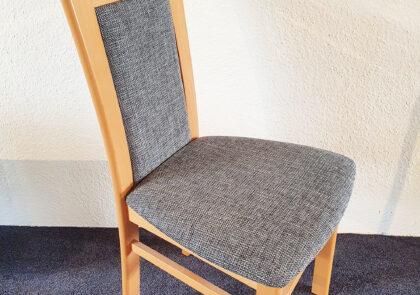 Stuhl von Niehoff – Modell Senator 5331 PS – in Stoff grau/braun